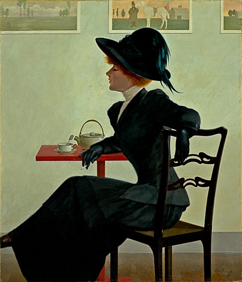 Harry Wilson Watrous Sophistication, A Cup of Tea, a Cigarette, and She 1908 Haggin Museum, Stockton