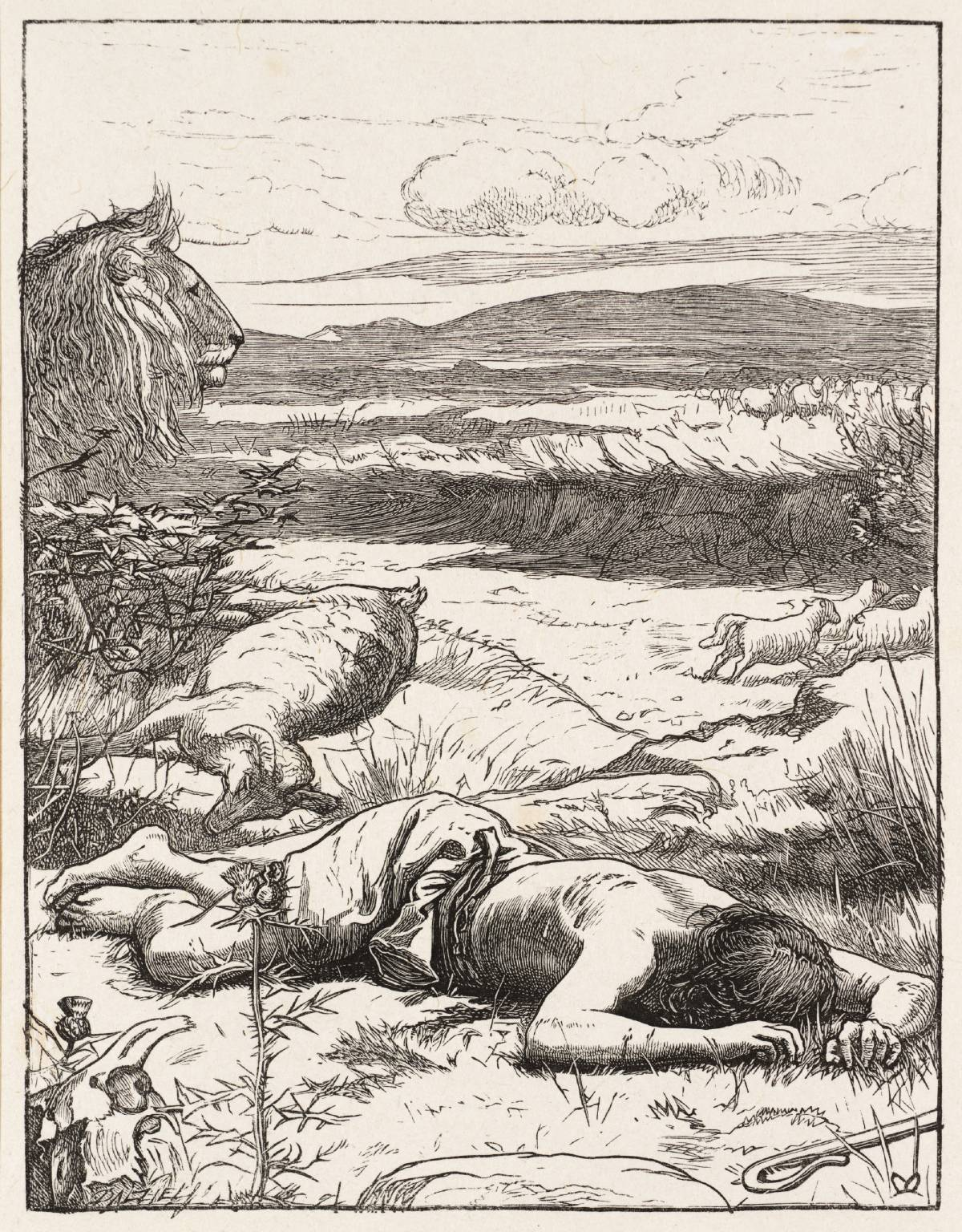 The Good Shepherd published 1864 by Sir John Everett Millais, Bt 1829-1896