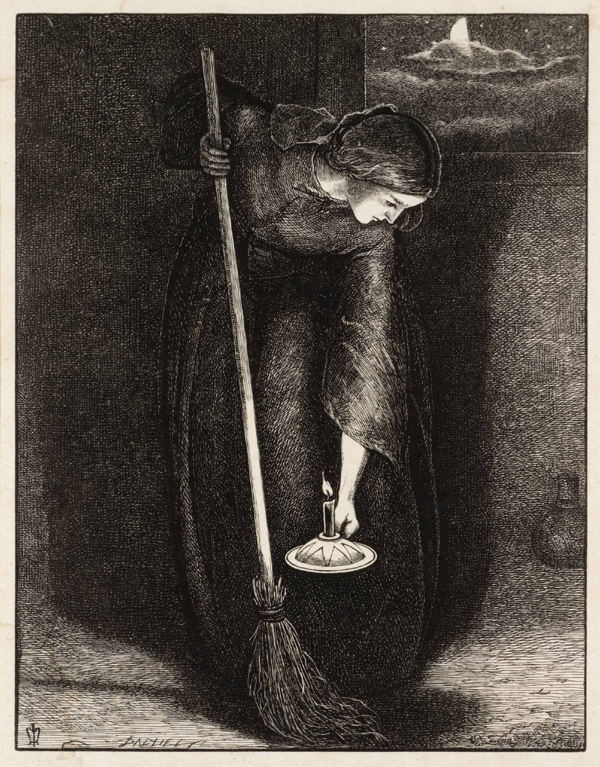 The Lost Piece of Silver published 1864 by Sir John Everett Millais, Bt 1829-1896