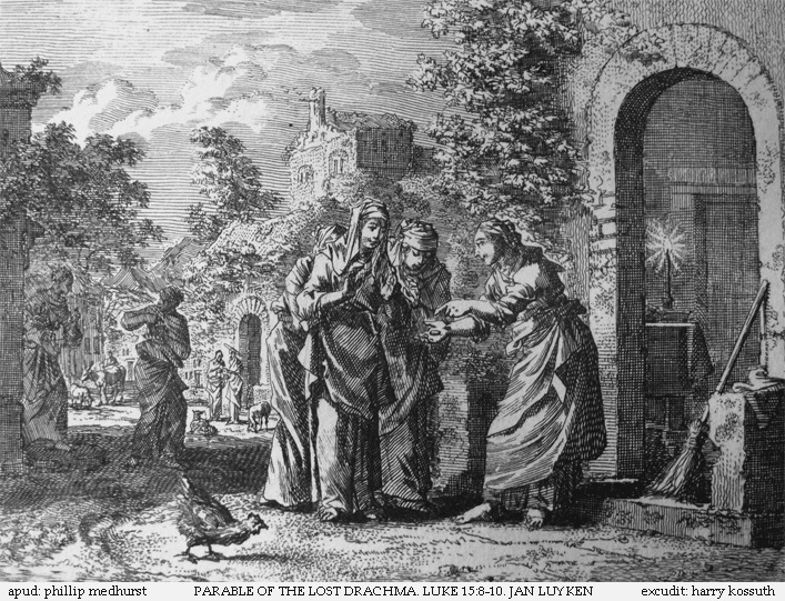 Teachings_of_Jesus_13_of_40._parable_of_the_lost_drachma._Jan_Luyken_etching._Bowyer_Bible