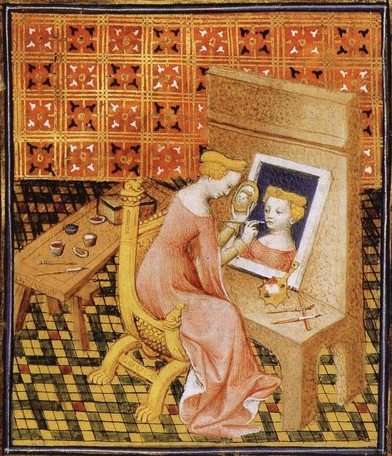 Autoportrait de Marcia Boccace De Claris mulieribus  vers 1404