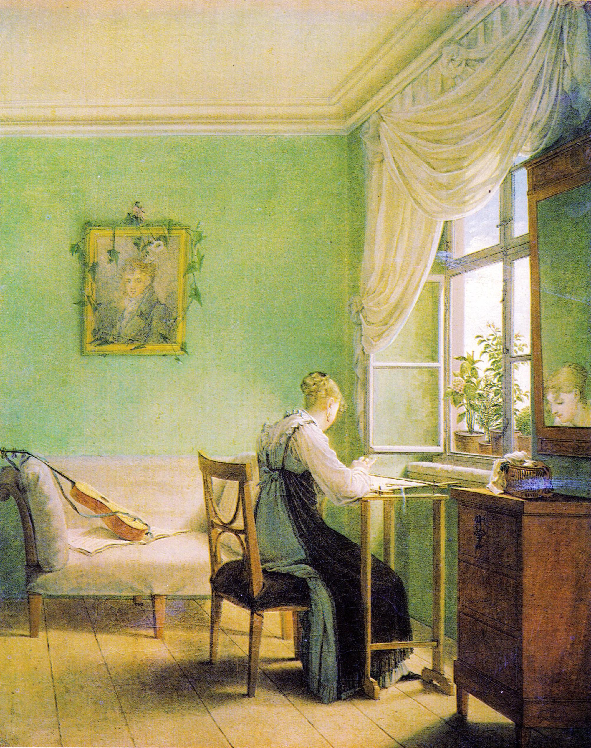 Georg_Friedrich_Kersting_-_Die_Stickerin_1812