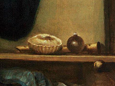 Johannes Gumpp, Autoportrait, 1646 detail flute