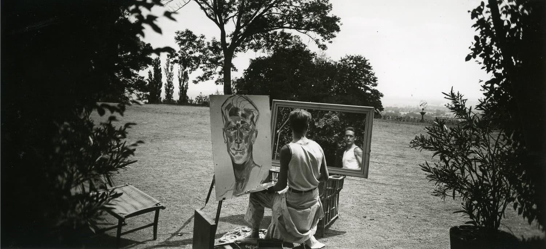 Lartigue Mon portrait. Rouzat, juillet 1923