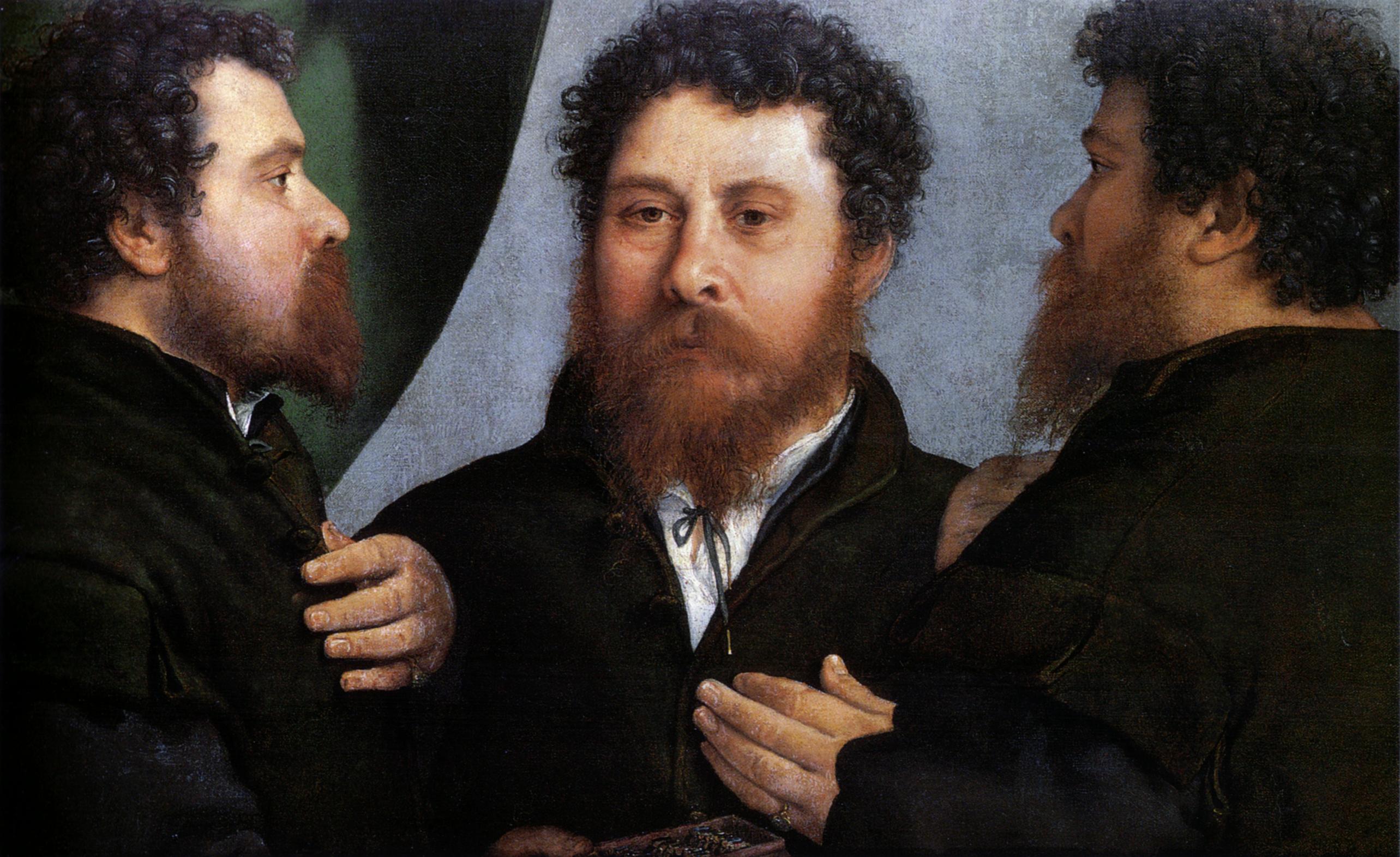 Lorenzo_Lotto_Triple portait d'un orfevre 1530  Kunsthistorisches Museum  Vienne