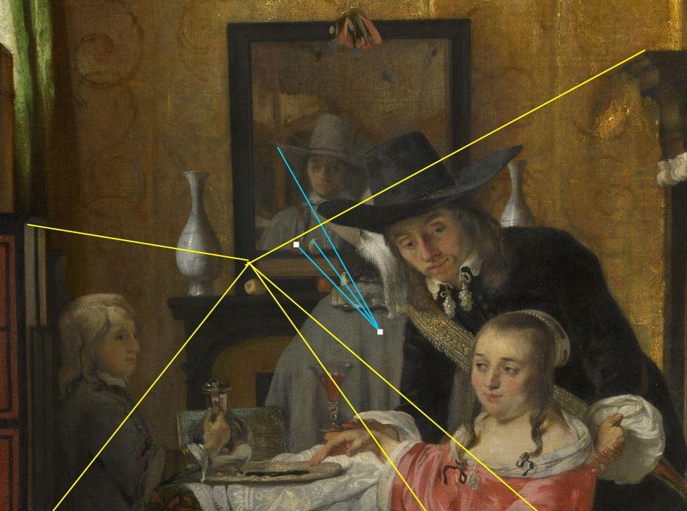 Ludolf de Jongh Le verre refuse 1650-55 National Gallery perpective