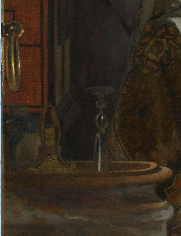 Ludolf de Jongh Le verre refuse 1650-55 National Gallery poignee