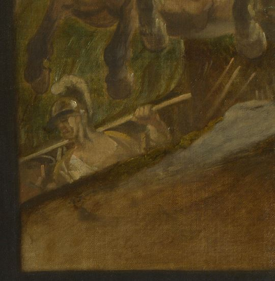 Ludolf de Jongh Le verre refuse 1650-55 National Gallery tableau