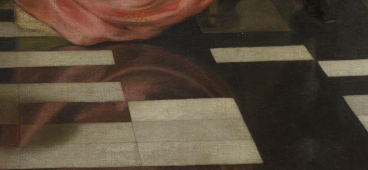 Ludolf de Jongh Le verre refuse 1650-55 National Gallery_reflet robe