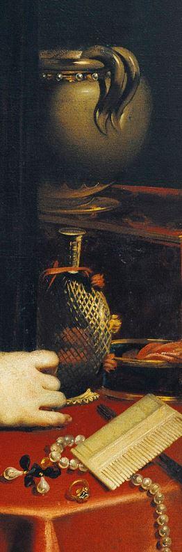 Nicolas Regnier Jeune femme a sa toilette detail