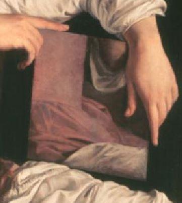 Orazio_Gentileschi_--Martha_tadelt_ihre_Schwester_Maria vers 1620_miroir