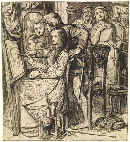 Rossetti Love's mirror