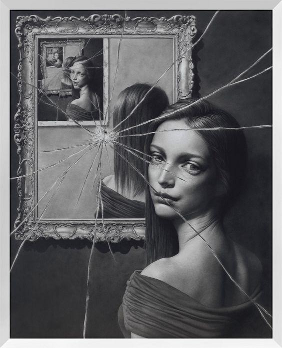 Taisuke Mohri, The Mirror 2, pencil on paper,2016