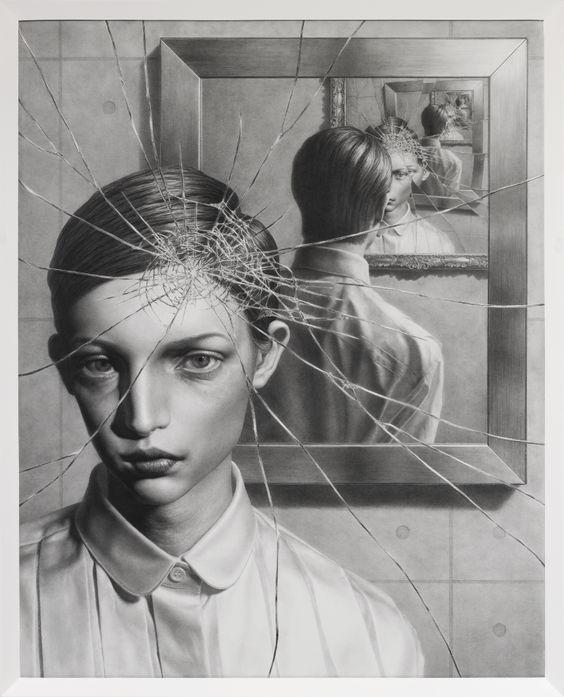 Taisuke Mohri, The Mirror 3, pencil on paper,2017
