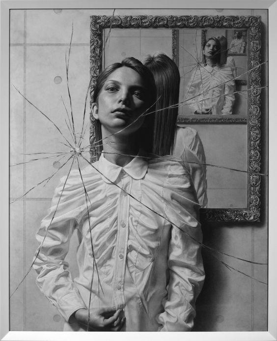 Taisuke Mohri, The Mirror, pencil on paper, 2016