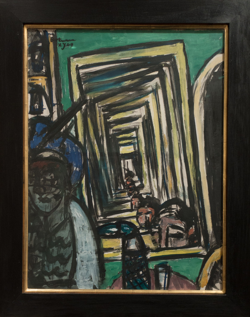 cafe-interior-with-mirror-play_max-beckmann 1949 coll priv