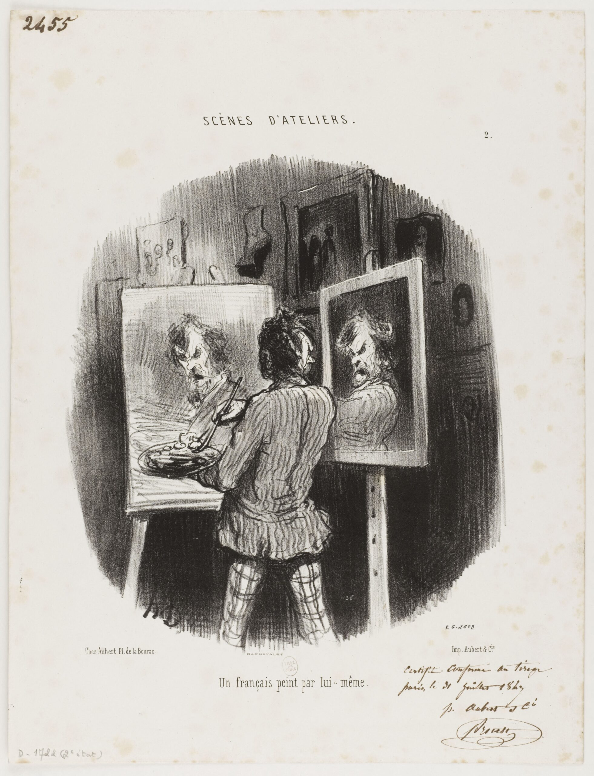 daumier_honore_un_francais_peint_par_lui-meme-31–07–1847-Paris-Musees-Collection
