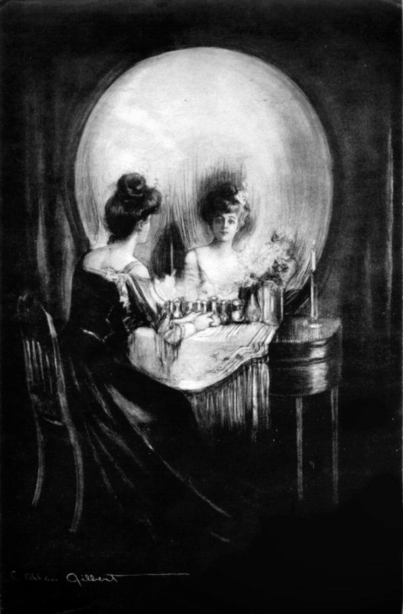 All is Vanity optical illlusion Charles Allan Gilbert 1892