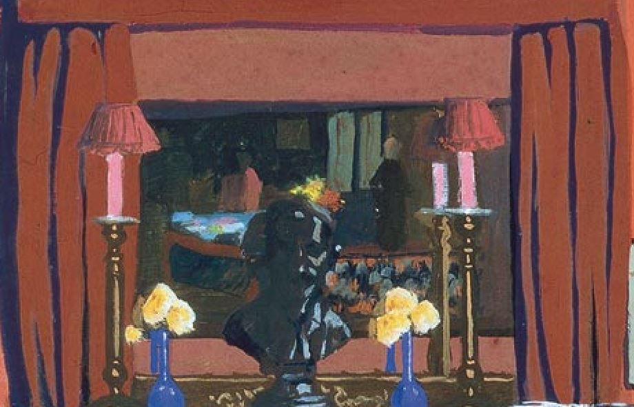 Felix-Vallotton-La chambre rouge tableau jpg