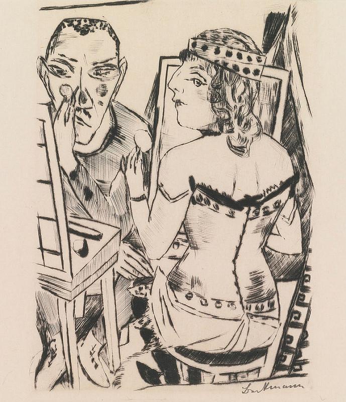 Max Beckmann vers 1920 Garderobe