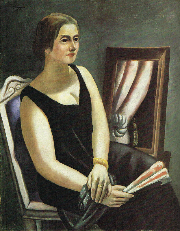Portrait de Mina Beckmann-Tube (1924)