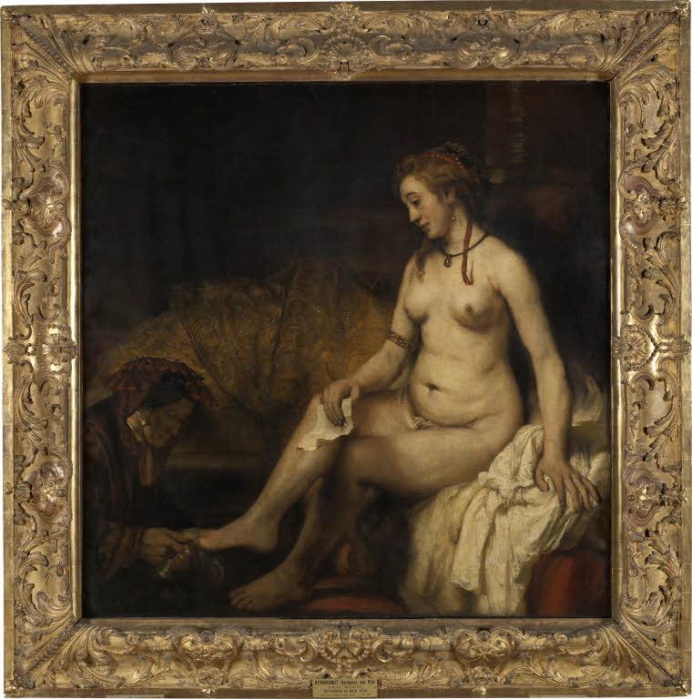 Rembrandt Bethsabee 1654 Louvre