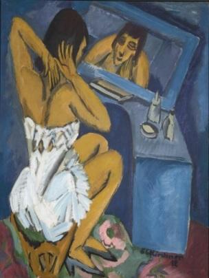 Toilette - Frau vor dem Spiegel Ernst Ludwig Kirchner, 1913, Centre Pompidou