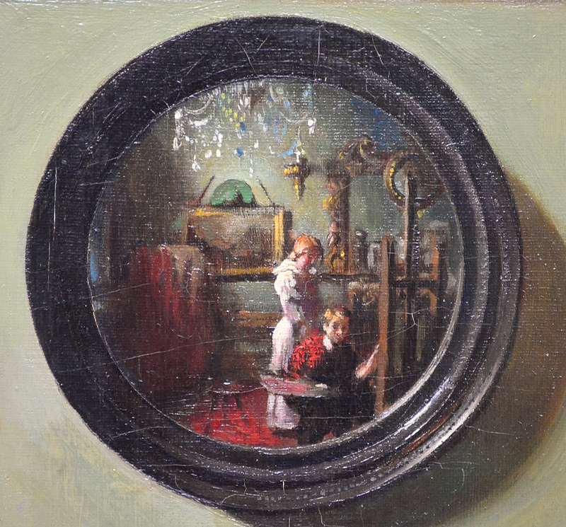 William Orpen 1900_The_Mirror_detail