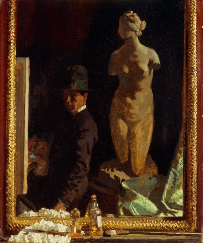 William Orpen 1908 Portrait of the Artist Dublin City Gallery Ireland