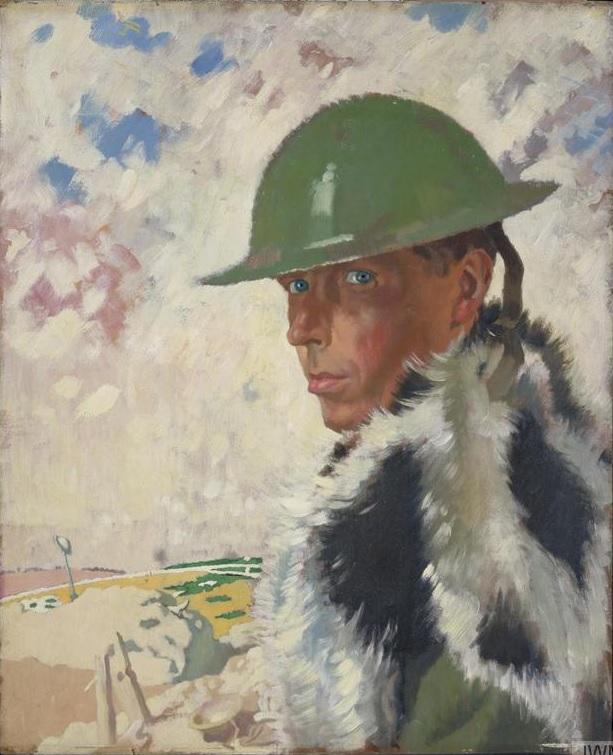 William Orpen 1917  Self Portrait in Helmet