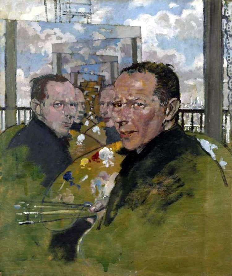 William Orpen 1924 Self Portrait, Multiple Mirrors