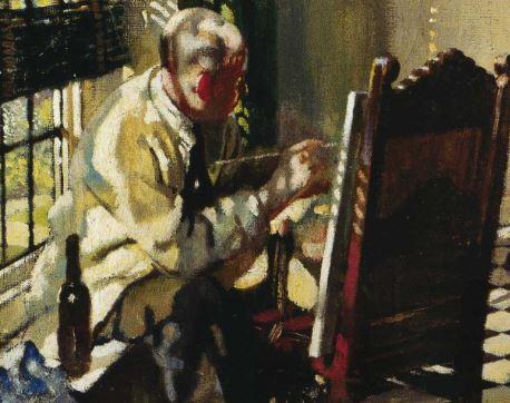William Orpen, Sunlight, 1925, (Leeds Art Gallery) bouteille