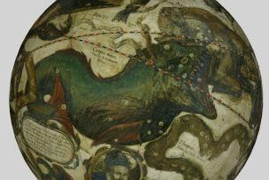 1603 Sphaera stellifera globe by Willem Janszoon Blaeu Constellation de la Baleines