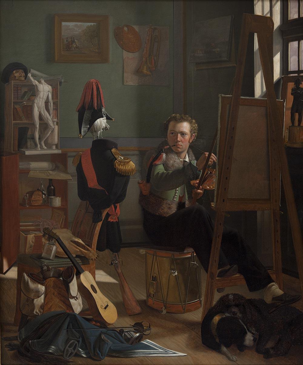 A Battle-Painter, Jorgen Sonne, in his Studio c 1826 ditlev blunck