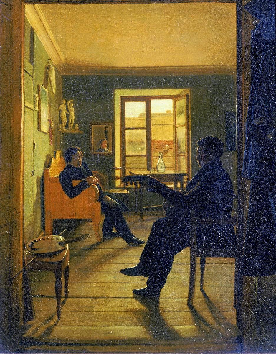 Alexei Tyranov Atelier des freres Chernetsov 1828 Musee d'Art Russe Saint Petersbourg