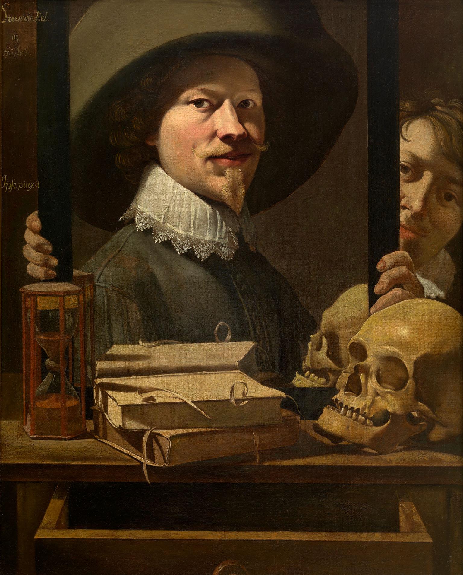 Antoine Steenwinkel - Vanitas, portrait de l artiste, XVIIeme s. Royal Museum of Fine Arts Antwerp