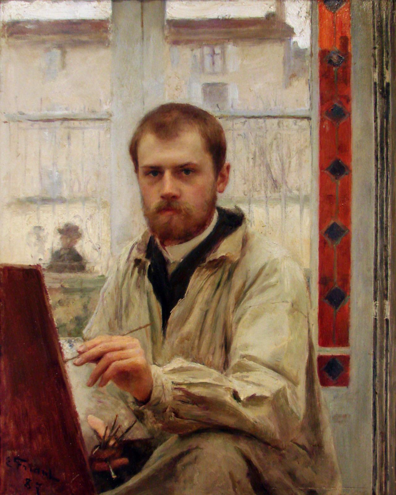 Autoportrait 1887 Emile Friant Musee des Beaux Arts de Nancy