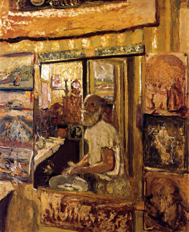 Autoportrait dans le miroir du cabinet de toilette 1923-1924, Edouard Vuillard coll part