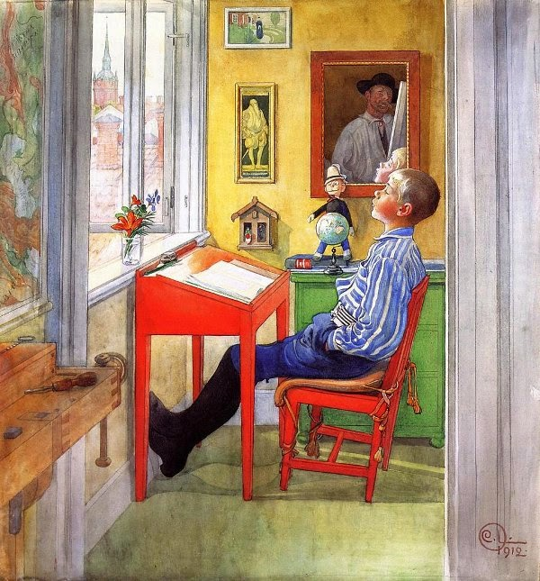 Carl Larsson Esbjorn doing his Homework II