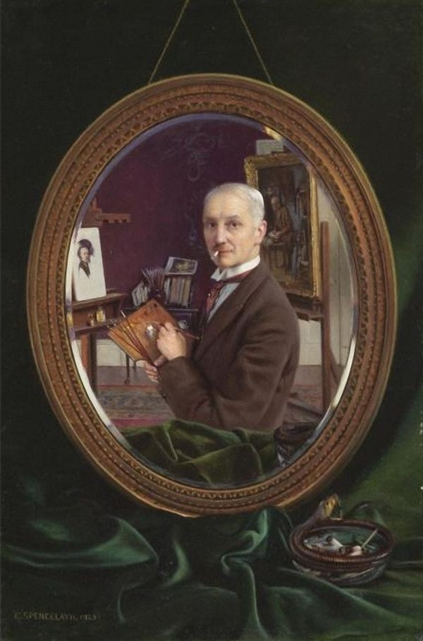 Charles Spencelayh My Reflection