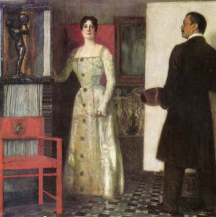 Franz und Mary Stuck im Atelier 1902 coll privee