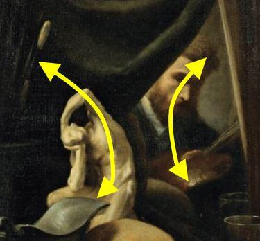 Gustave Victor Cousin Vanite et autoportait detail