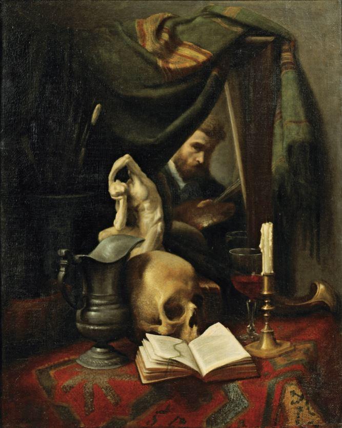 Gustave Victor Cousin Vanite et autoportait