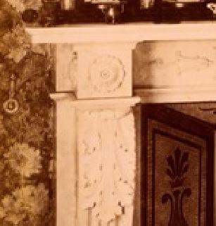 Interior of 1 Holland Park, Fireplace with Tanagra Figures, c.1898 button