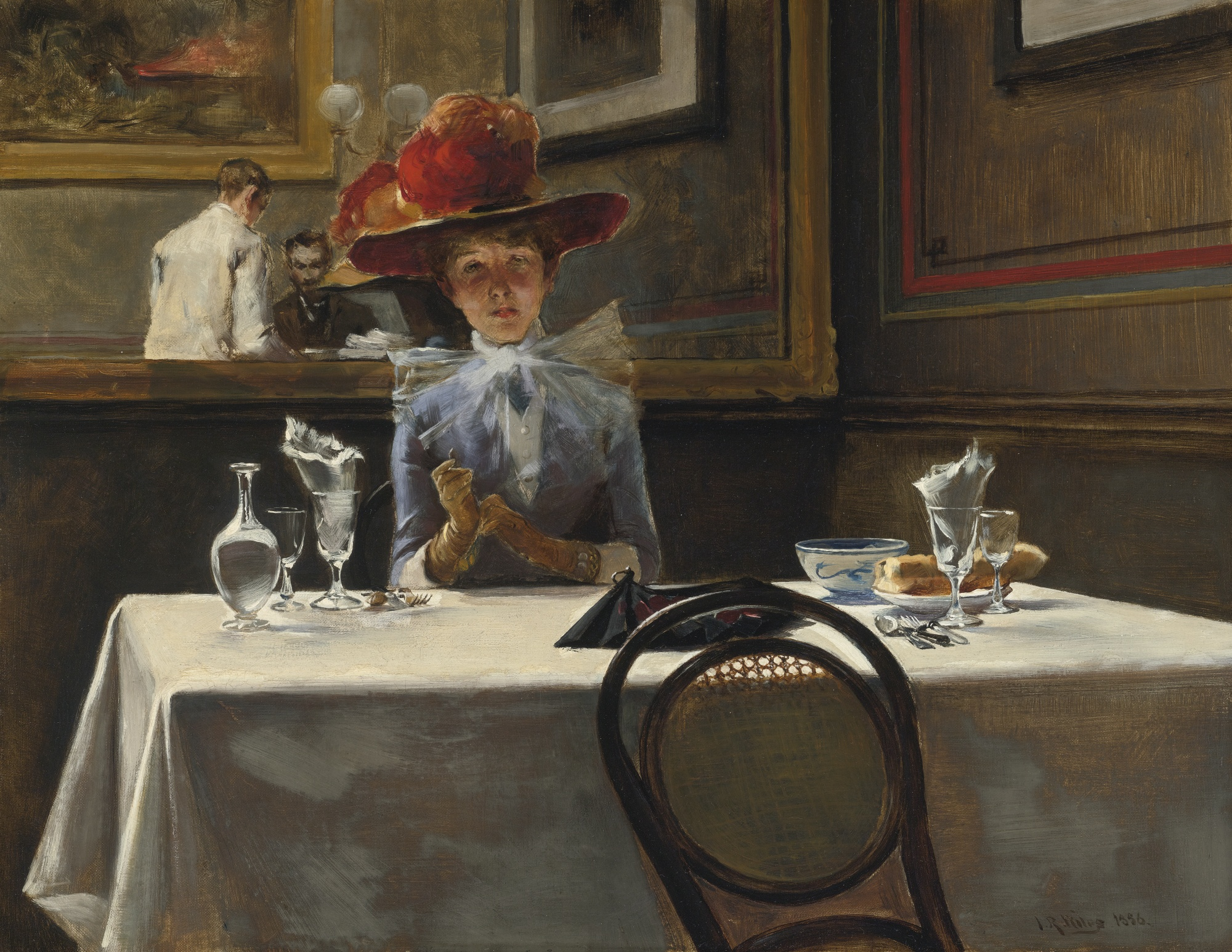 Irving Ramsey Wiles - The Corner Table (1886)