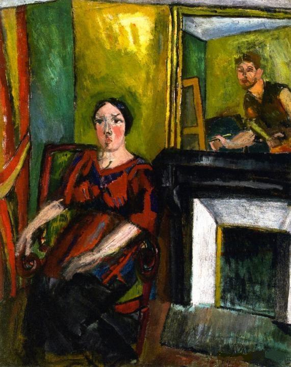 Le Peintre et son Modele, Dufy, 1909, Coll privee