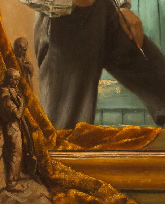 Leo Whelan THE MIRROR 1912 collection privee sculpture