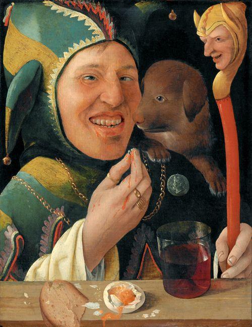 Maitre du portrait de Angerer, Un fou, 1519-20 Yale University Art Gallery