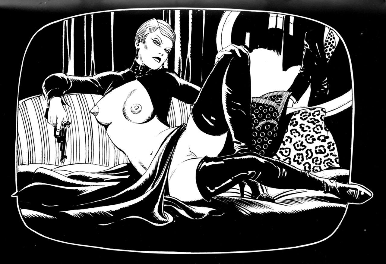 Maitresse au miroir
