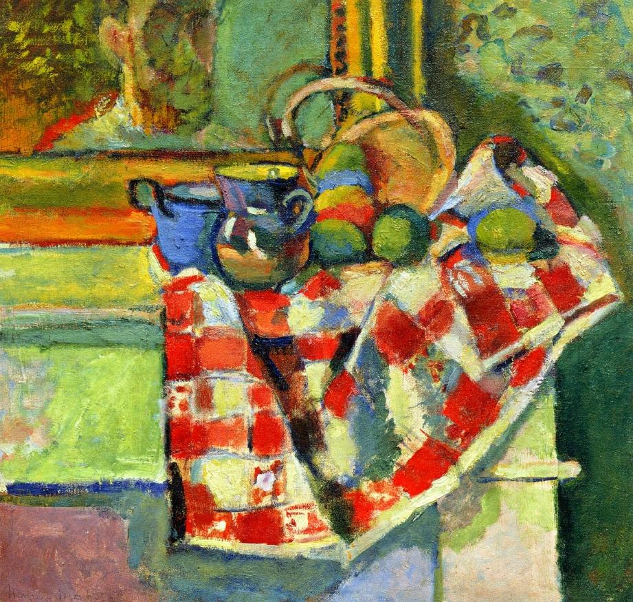 Matisse Nature morte avec nappe aux carres rouges 1903